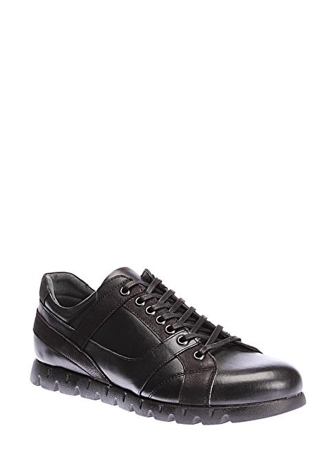 İnci %100 Deri Bağcıklı Ayakkabı Siyah